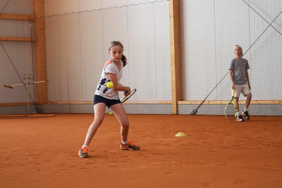 Gute Trainingsarbeit macht müde Beine am zweiten Tag des Ostercamps der Schüttler Waske Tennis University