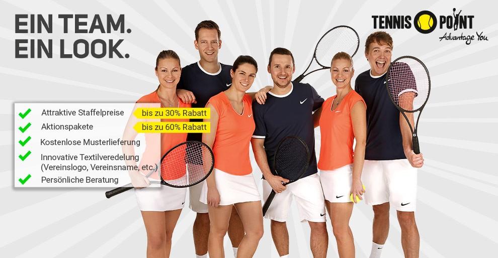 Tolle Teamwear- und Ballangebote bei Tennis-Point - schnell zugreifen!